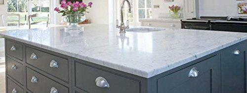 Granite Peel And Stick Sheets : Laminate counter top faux white marble peel and stick film
