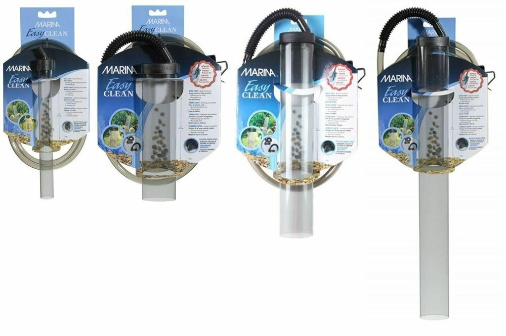 Marina easy clean aquarium fish tank gravel cleaner vacuum for Fish tank vacuum