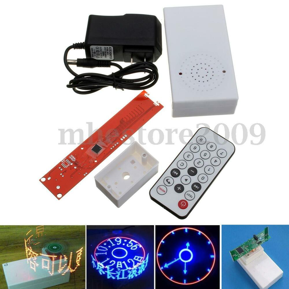 Electronic Remote Control : Diy electronic clock rotating led flash kit remote control
