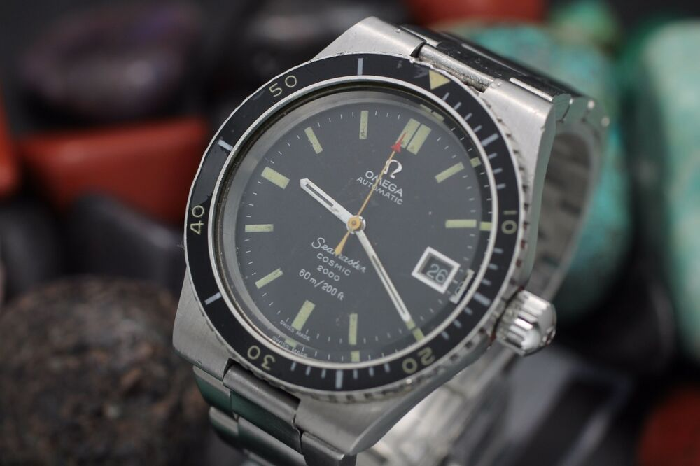 Vintage omega seamaster cosmic 2000 stainless steel 60m - Omega dive watch ...