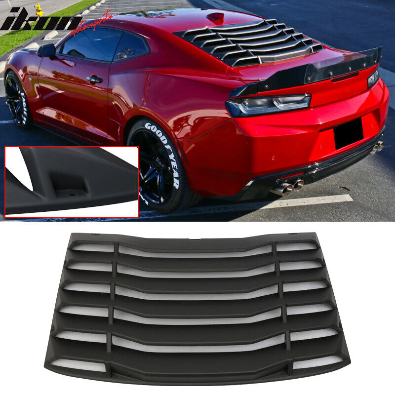 Fits 16 17 chevy camaro ikon rear window louvers cover sun for 1970 mustang rear window louvers