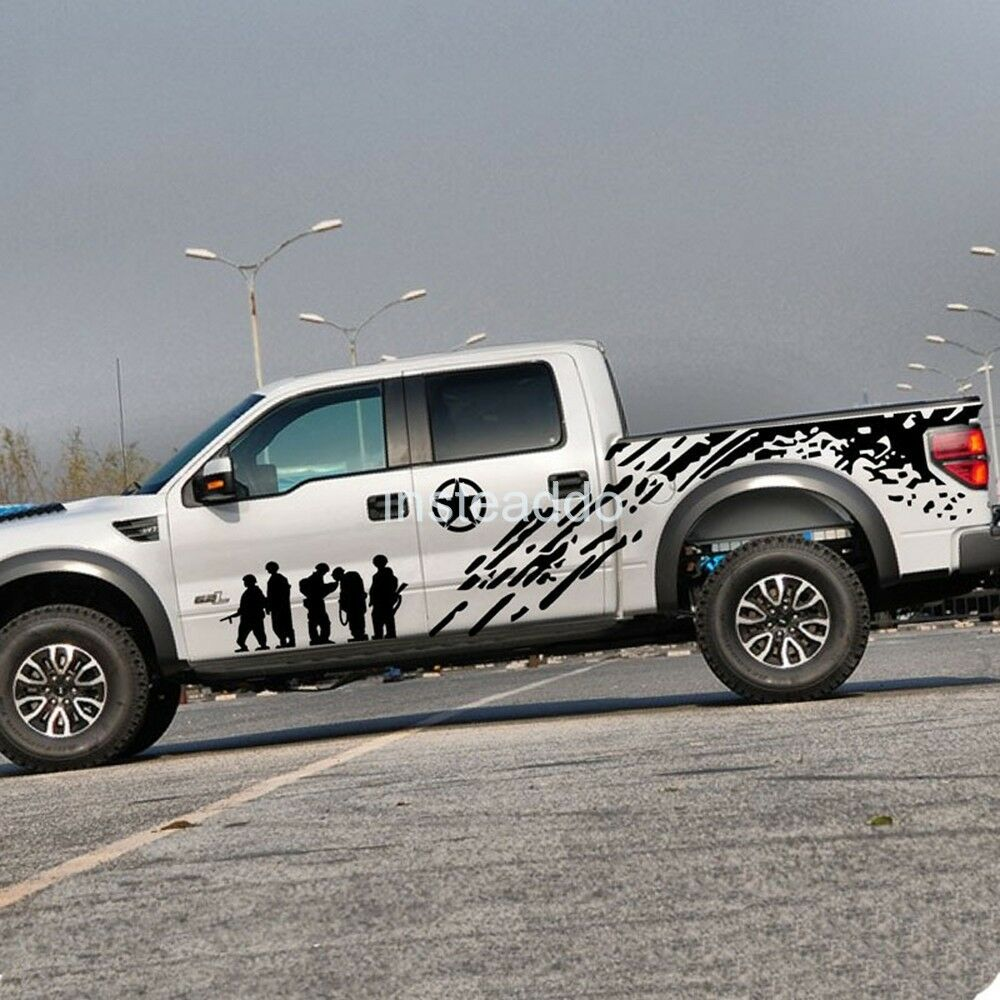 1set/2pcs Car Pickup Truck Army Brothers Graphics Side