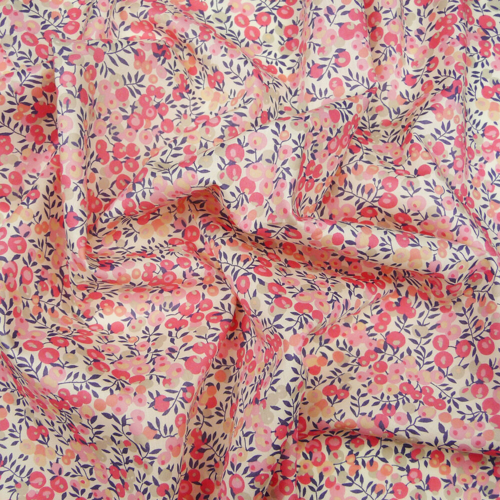 Liberty wiltshire berry d pink tana lawn fabric for Dressmaking fabric