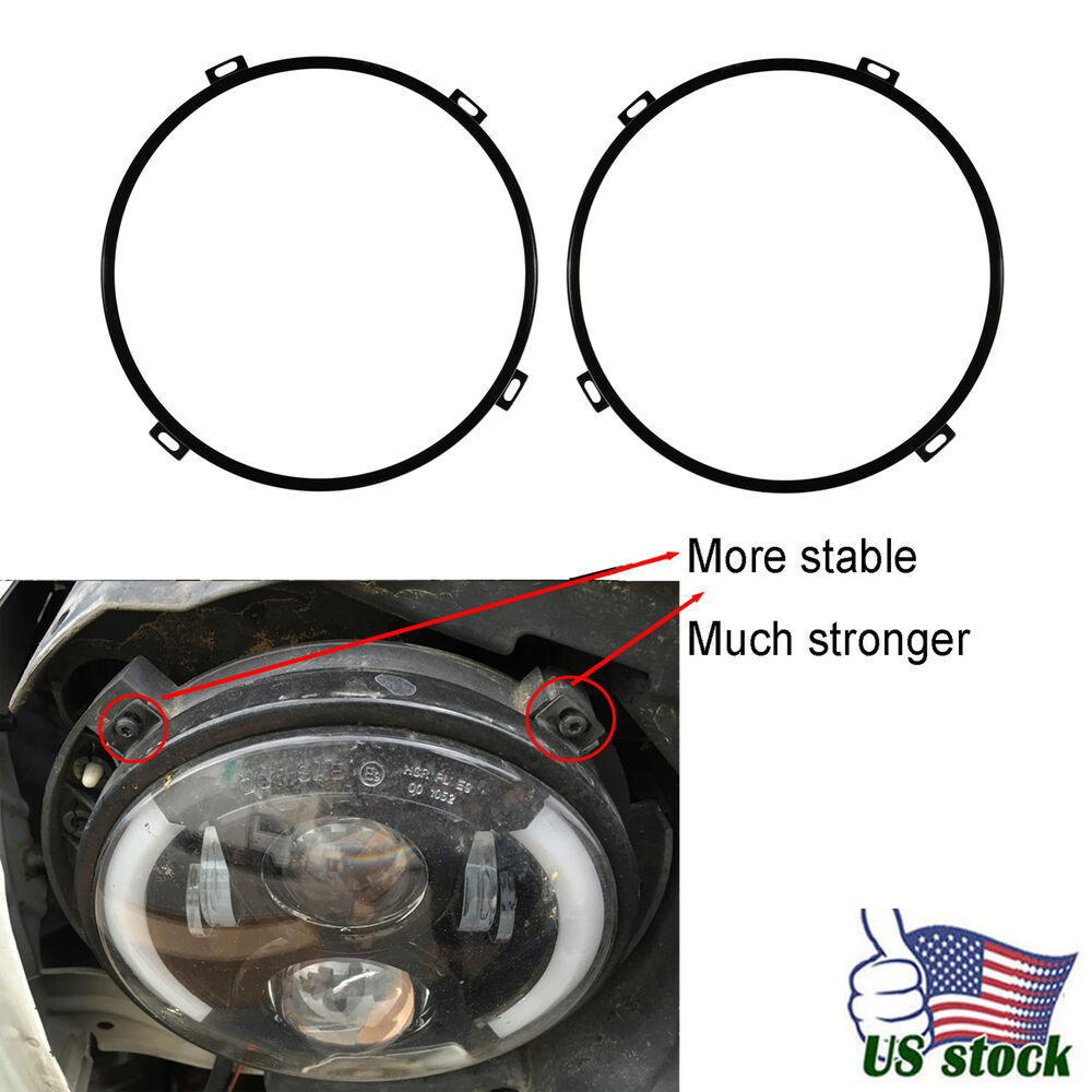 7 Headlight Retaining Ring Headlamp Bezel For Jeep
