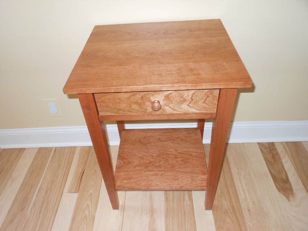 end tables for bedroom cherry bedroom bedside end nightstand shaker style table 15223