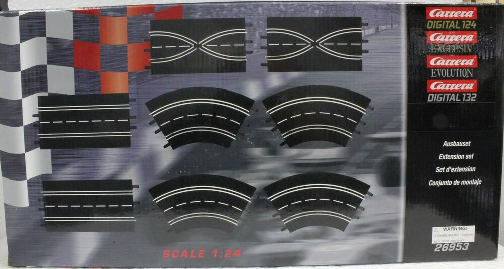 carrera 26953 extension set 1 1 24 1 32 slot car track 8 pieces ebay. Black Bedroom Furniture Sets. Home Design Ideas