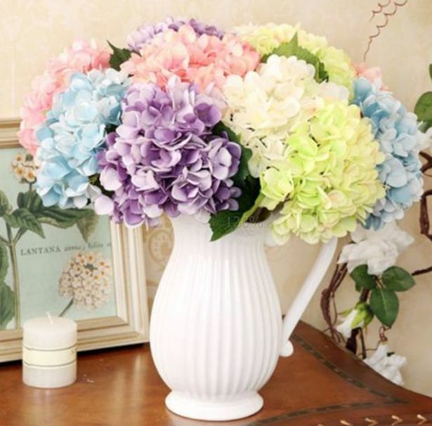 flowers for wedding party silk flowers bouquet artificial hydrangea wedding 4279