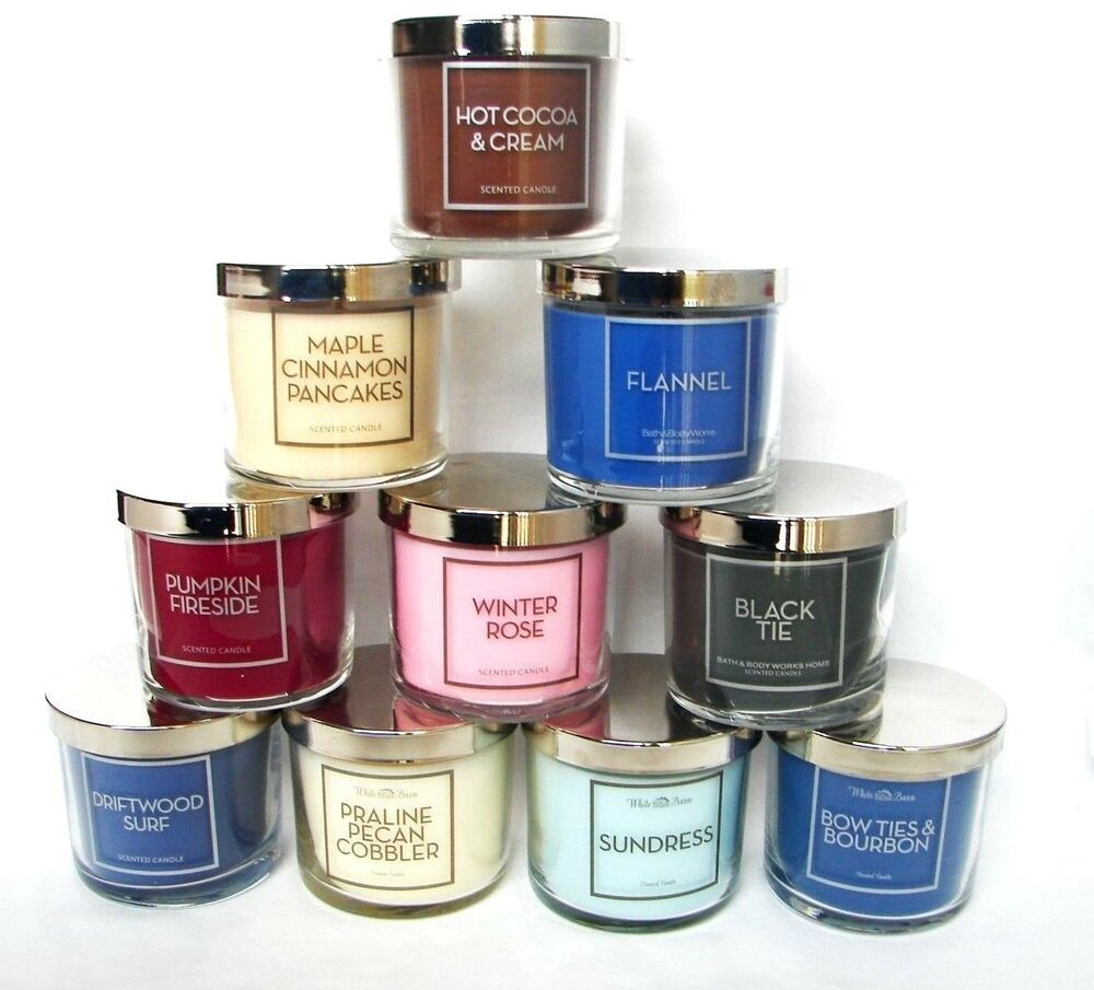 bath body works white barn 4 oz scented candle you choose ebay. Black Bedroom Furniture Sets. Home Design Ideas