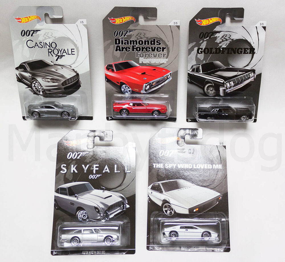 2015 Hot Wheels 1 64 James Bond 007 Ltd Series Complete 5 Car Set 2017 Db10 Ebay