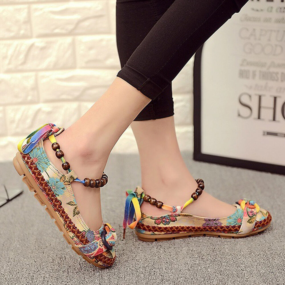 Women Ethnic Shoes Lace Up