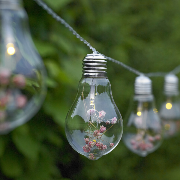 10x Novelty Edison Light Bulb String Lights Flowers