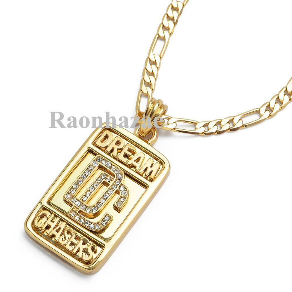Swag Meek Mill Dream Chasers Dc Mmg Pendant 5mm 24 Quot Figaro