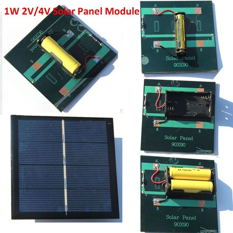 Portable 2v 4v 1w Diy Solar Panel Module System Toy For Aa