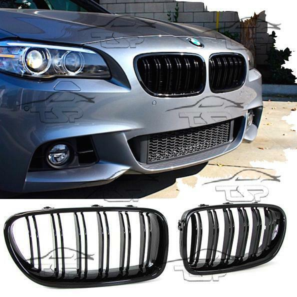 2012 Bmw F10 M5 Saloon Uk: FRONT GRILLS BLACK GLOSS FOR BMW F10 F11 From 2010 M5 LOOK