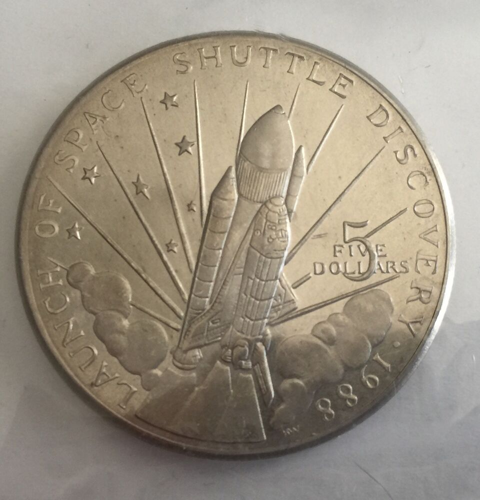launch of space shuttle discovery 1988 coin worth - photo #13