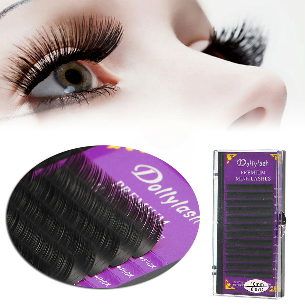 Mink Blink Lashes Tray Lash 007mm B C D J Curl Fr Eyelash