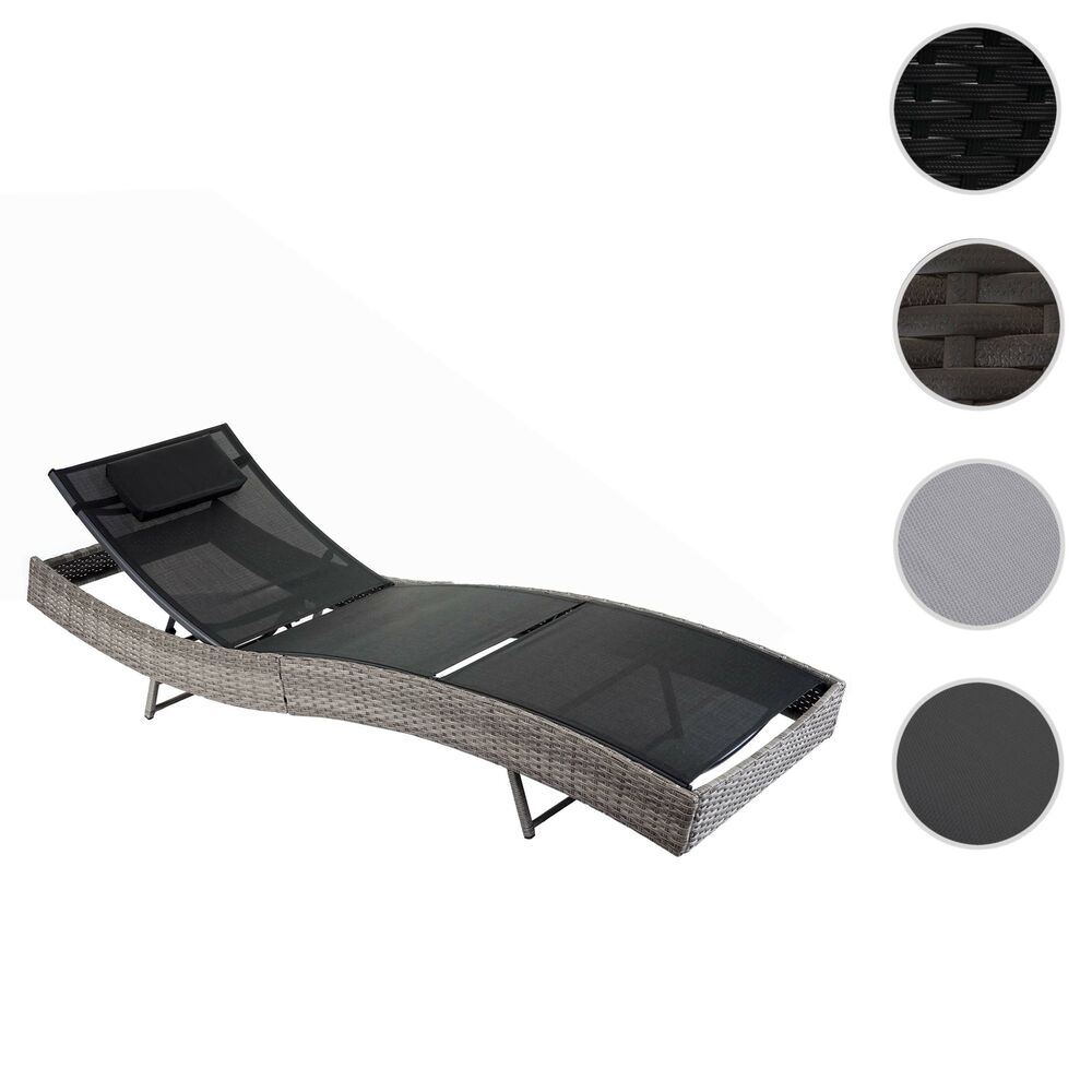 poly rattan sonnenliege savannah relaxliege gartenliege liege ebay. Black Bedroom Furniture Sets. Home Design Ideas
