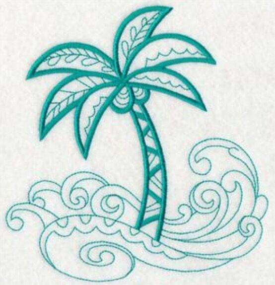 Tropical palm tree towels embroidered hand bath towel sets choose your