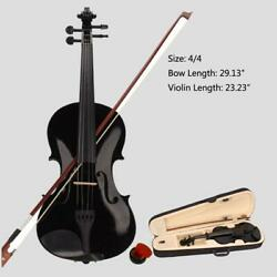 Kyпить New Student Band 4/4 Acoustic Orchestral Violin Fiddle Black with Case Bow Rosin на еВаy.соm