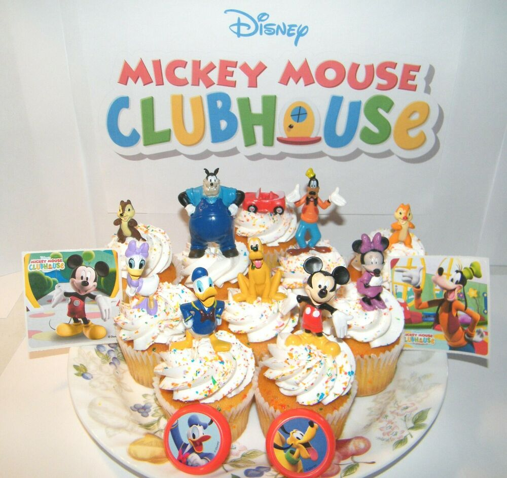 Disney Mickey Mouse Clubhouse Cake Toppers Set of 14 ... Mickey Mouse Cupcake Toppers Free