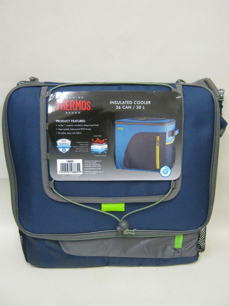 Thermos Radiance Insulated Cooler Cool Bag 36 Can 30 Litre Navy ...