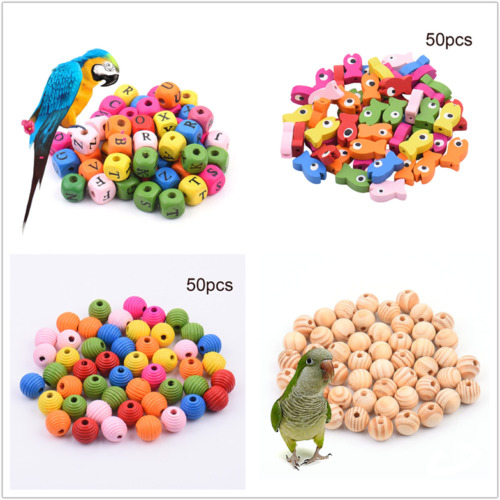 Diy Bird Toys : Pcs wood beads parrot toy parts pet birds toys diy