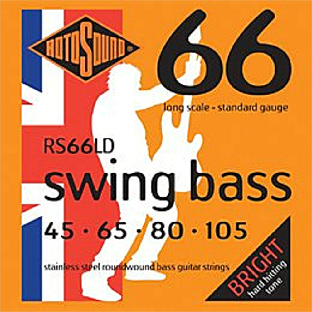 rotosound 4 string rs66ld stainless steel roundwound bass guitar strings 45 105 ebay. Black Bedroom Furniture Sets. Home Design Ideas