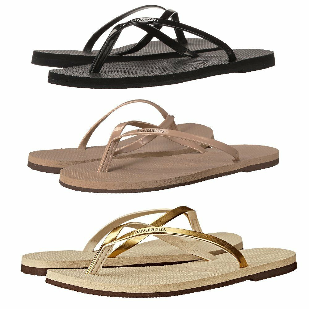 b2d854eff Details about NEW HAVAIANAS YOU METALLIC FLIP FLOP SANDALS WOMENS BLACK  ROSE SAND 37-42 BEACH