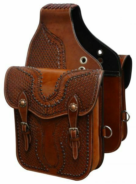 Western Trail Hand Tooled Brown Leather Horse Or