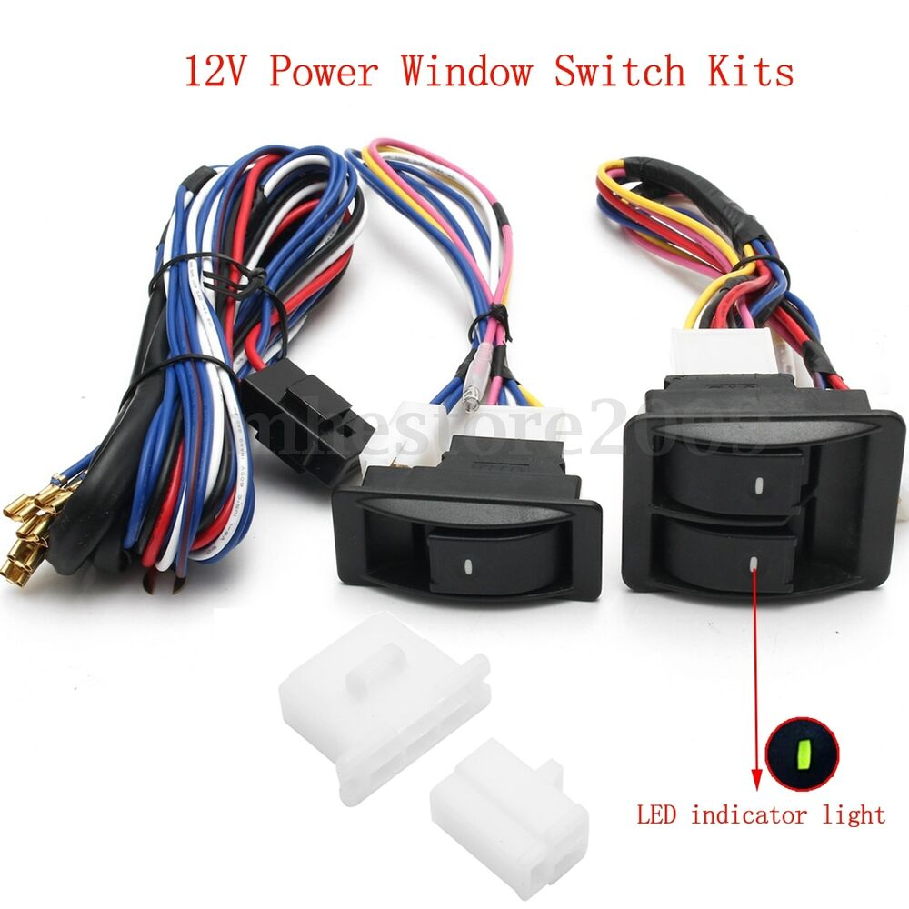 12v universal car suv power window glass lift switch kits