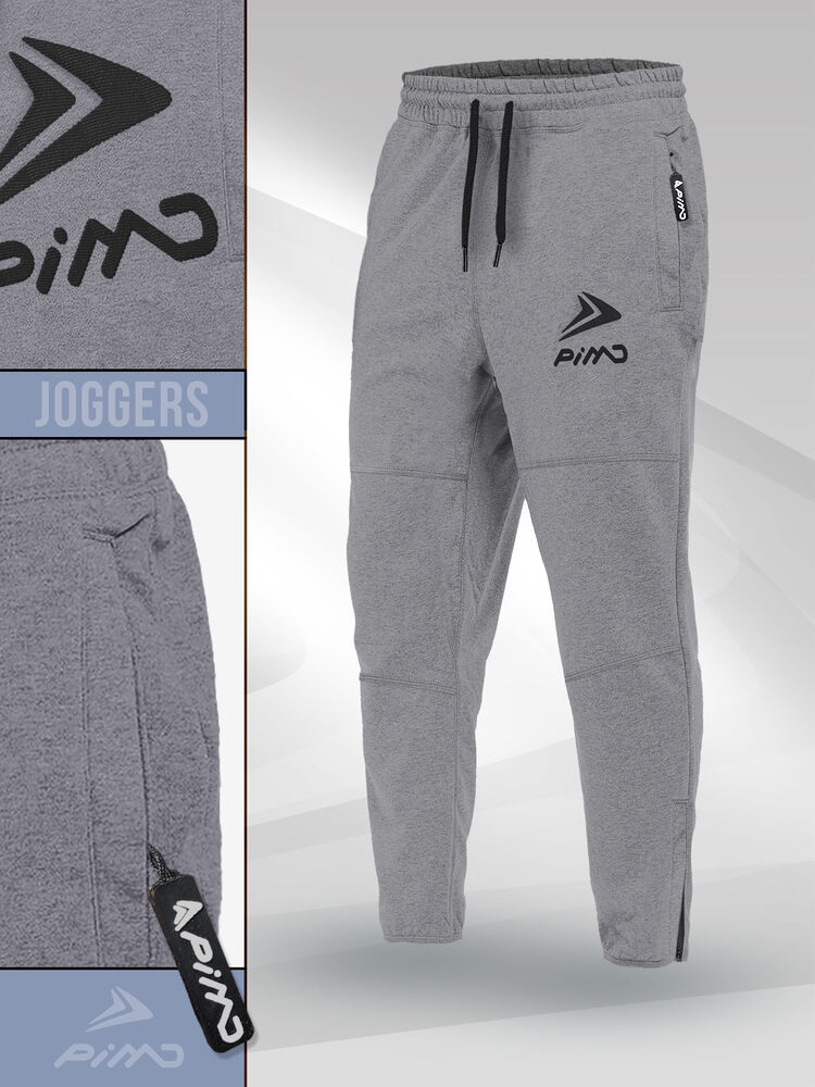 ea23728316b7c0 Details about PIMD Essential Joggers - Grey Fitted Sweat Pants Sweatpants Fitness  Gym NEW