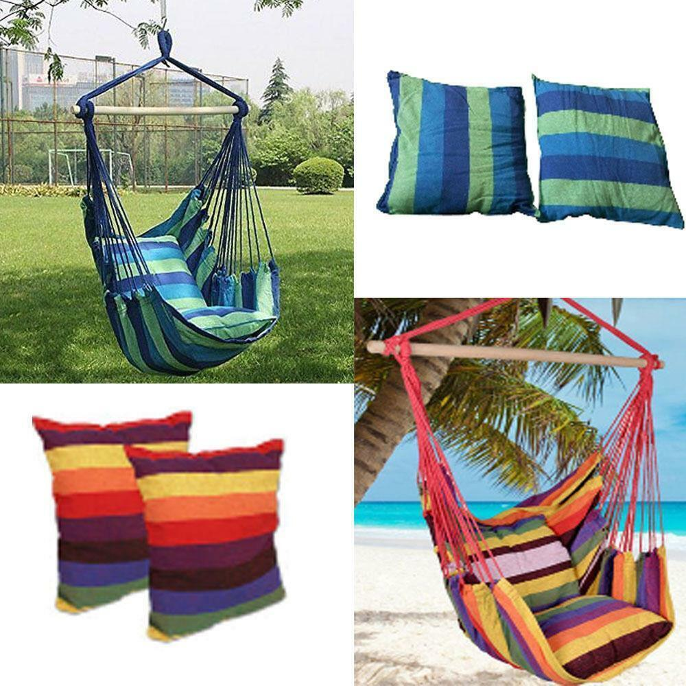 Patio Hammock: New Chair Hanging Rope Swing Hammock Outdoor Porch Patio