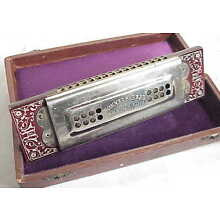 Antique THE UP TO DATE HOHNER Tremolo Concert Harp Harmonica