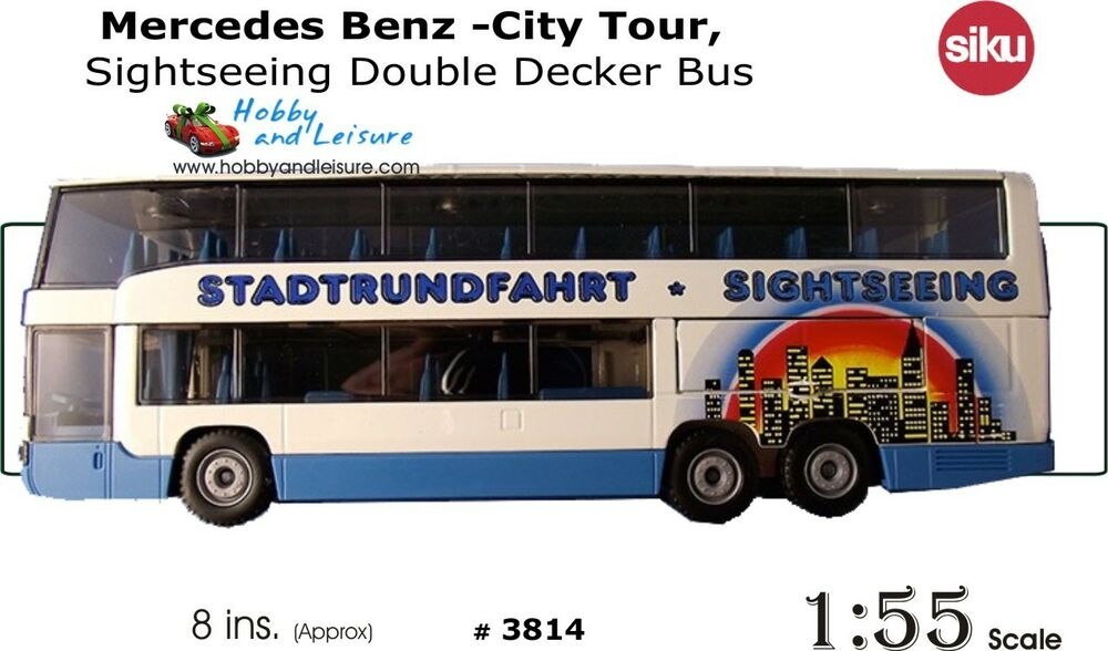 Siku Mercedes Benz -City Tour, Sightseeing Double Decker Bus 1:55 Scale #  3814 4006874038145 | eBay