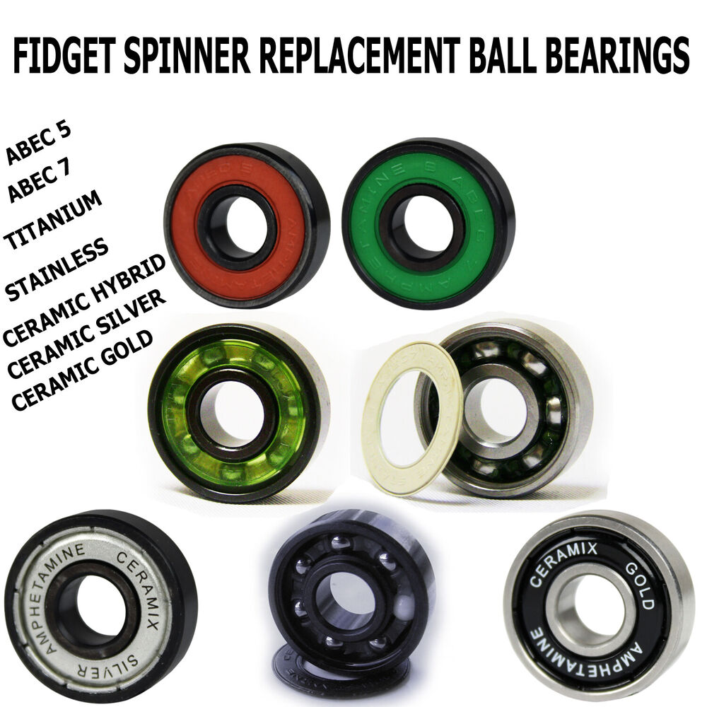 Fidget Spinner Toy Replacement Ball Bearing Packs From Amphetamine Bearings