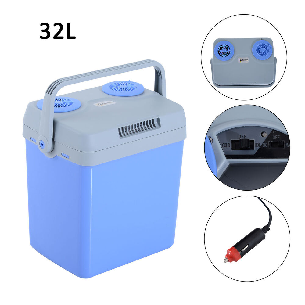 Small Portable Coolers : Portable v electric cooler warmer box mini fridge