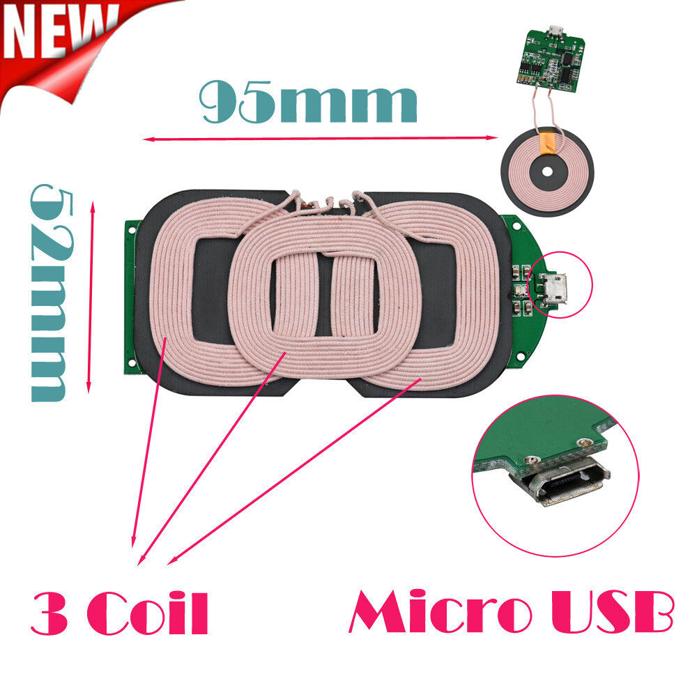 3 Coils Qi Wireless Charger Pcba Circuit Board Coil
