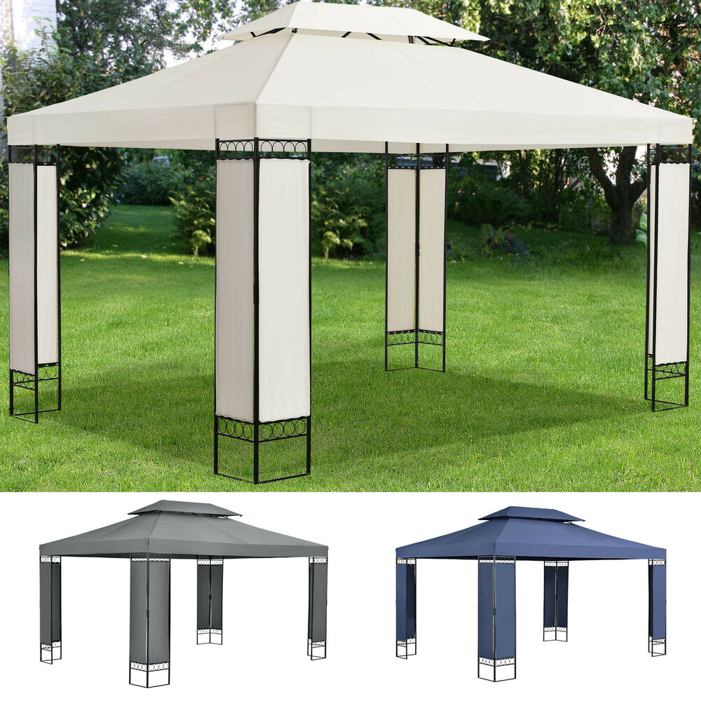 pavillion gartenzelt partyzelt festzelt gartenpavillion gazebo 3x4m metall neu ebay. Black Bedroom Furniture Sets. Home Design Ideas