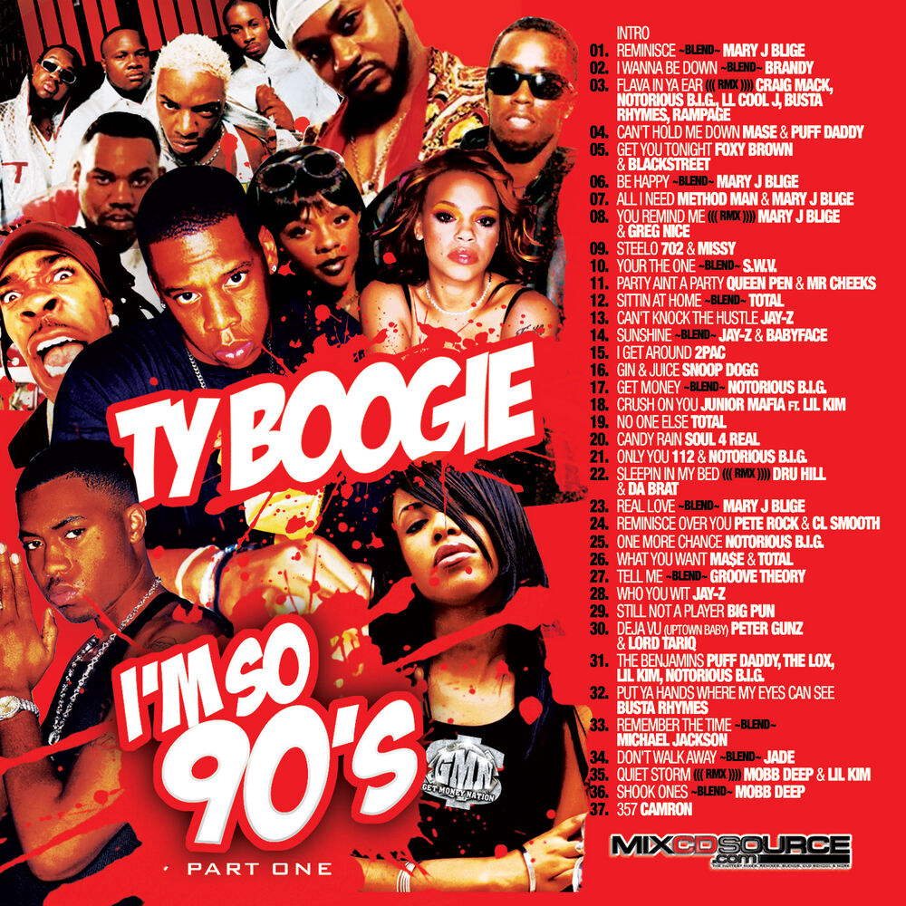 Dj ty boogie i m so 90s pt 1 mix cd r b hip hop and for Classic house tracks 90s