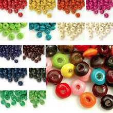 30g(400pcs Approx) Loose Wooden Spacer Wood Beads Rondelle 3x6mm WBSET04