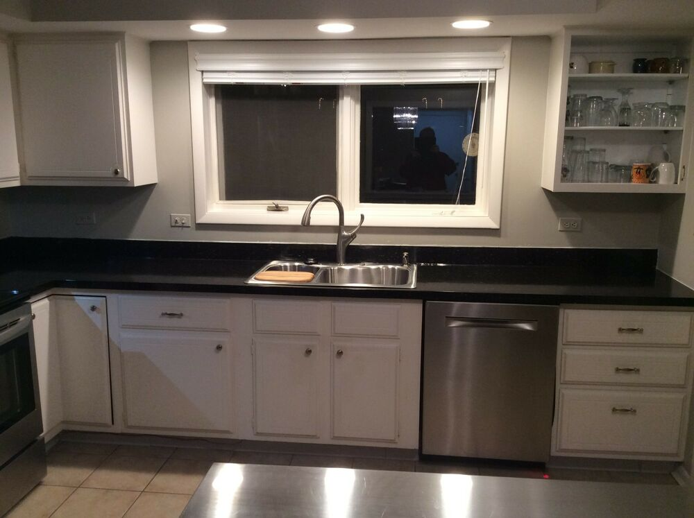 Peel And Stick Granite Countertops : Granite look not contact paper black peel stick quot