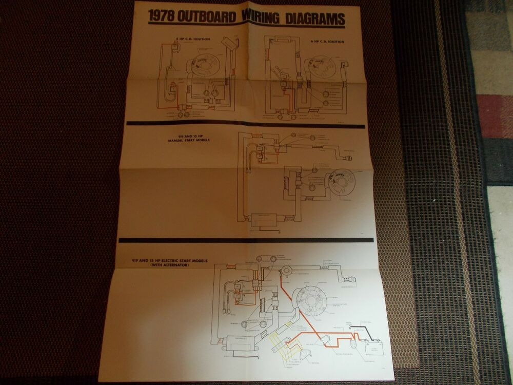 1978 Johnson Outboard Motor Wiring Diagram 4 6 9 9 15 Hp