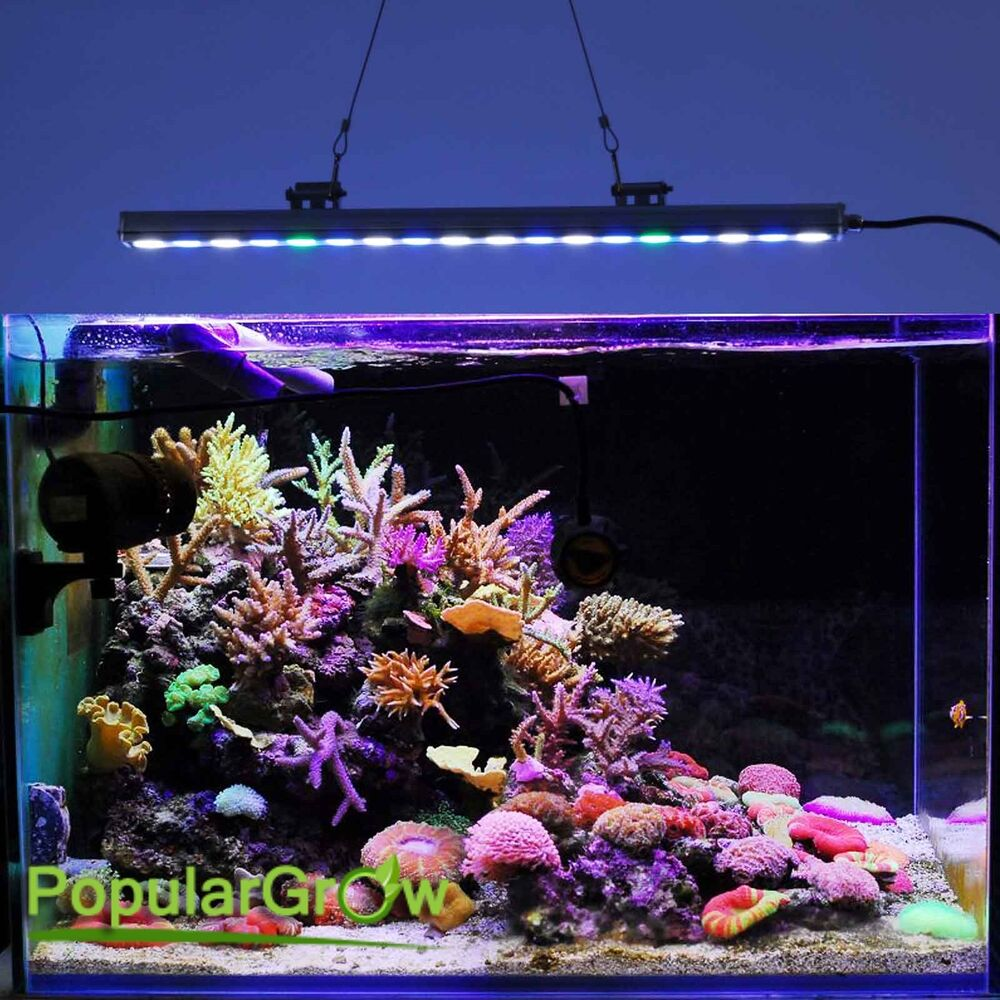 54w led aquarium lamp strip bar for s wasser coral reef. Black Bedroom Furniture Sets. Home Design Ideas