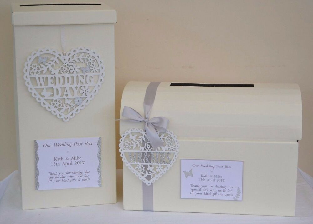 Elegant Personalised Sparkly Wedding Card Post Box Guest Book Ebay