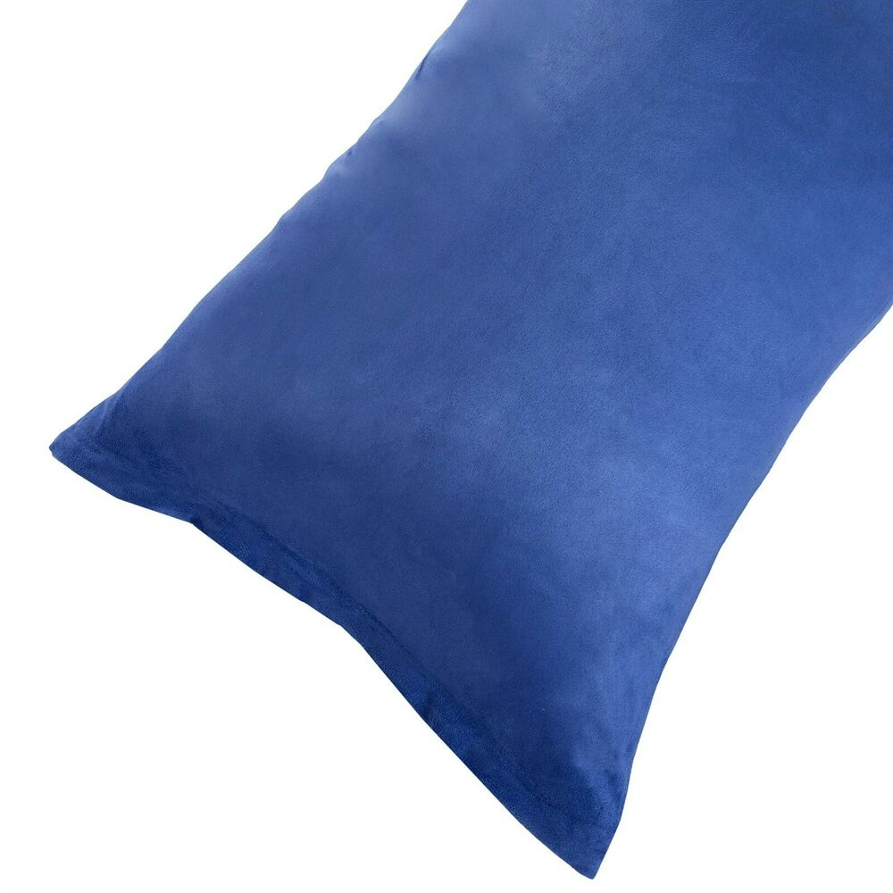 Microsuede Body Pillow Cover Pillowcase Zippered Washable