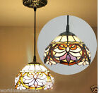 8 Inches American Style Ancient Glass Droplight H 115 CM 1 Light Chandelier