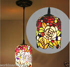 C22 8 Inches European Style Colorful Glass Droplight H 115 CM 1 Light Chandelier