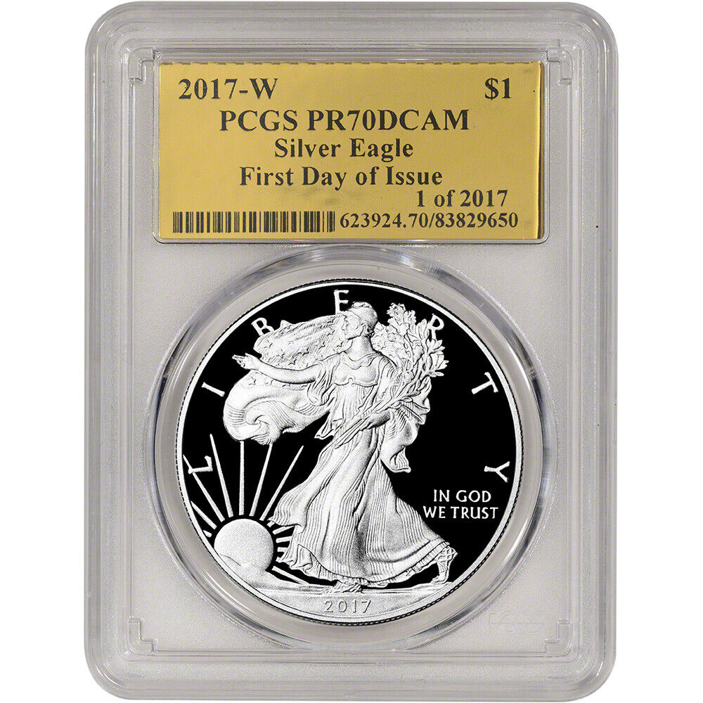 2017 W American Silver Eagle Proof Pcgs Pr70 Dcam