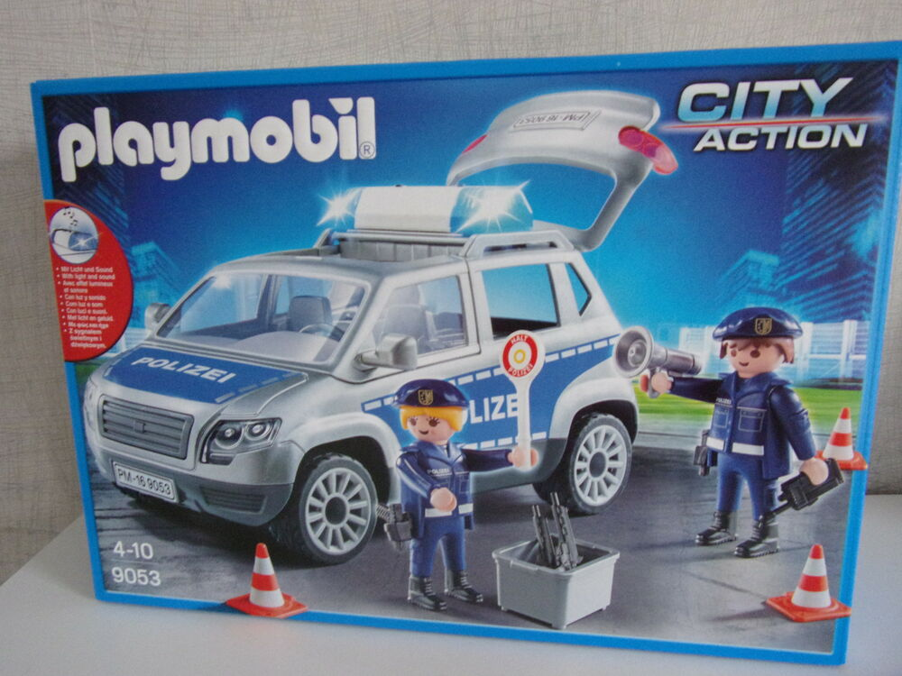 playmobil city action 9053 polizeiauto van mit licht. Black Bedroom Furniture Sets. Home Design Ideas