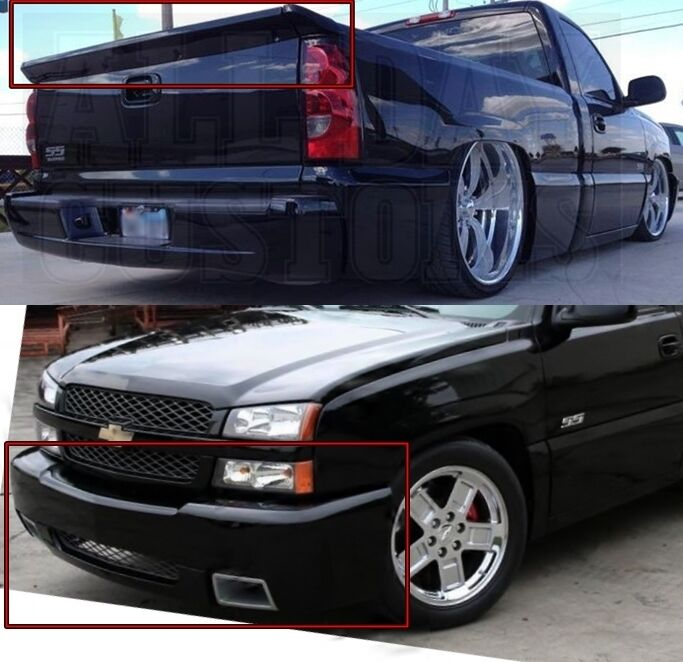 combo silverado ss bumper cover intimidator ss wing 2003 2004 2005 2006 2007 ebay. Black Bedroom Furniture Sets. Home Design Ideas